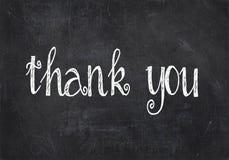 Σας ευχαριστούμε κείμενο στο μαύρο πίνακα κιμωλίας Στοκ εικόνες με δικαίωμα ελεύθερης χρήσης