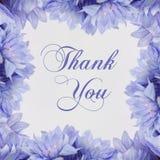 Σας ευχαριστούμε - λουλούδια που απομονώνονται στο λευκό Στοκ εικόνα με δικαίωμα ελεύθερης χρήσης