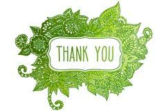 Σας ευχαριστούμε χρωμάτισε doodle το πλαίσιο Στοκ Εικόνες