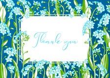 Σας ευχαριστούμε floral διανυσματικό υπόβαθρο απεικόνιση αποθεμάτων