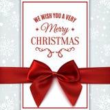 Σας ευχόμαστε τη ευχετήρια κάρτα Χαρούμενα Χριστούγεννας Στοκ εικόνες με δικαίωμα ελεύθερης χρήσης