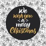 Σας ευχόμαστε τη Χαρούμενα Χριστούγεννα Στοκ φωτογραφία με δικαίωμα ελεύθερης χρήσης