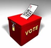 Σας-κείμενο Α ψηφοφορίας Στοκ φωτογραφίες με δικαίωμα ελεύθερης χρήσης