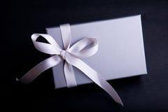 σατέν κορδελλών δώρων στοκ εικόνα με δικαίωμα ελεύθερης χρήσης