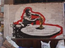 Σατυρικά γκράφιτι Παγκόσμιου Κυπέλλου Στοκ εικόνα με δικαίωμα ελεύθερης χρήσης