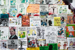 Σατυρικές αφίσες Στοκ φωτογραφία με δικαίωμα ελεύθερης χρήσης
