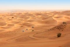 Σαφάρι ερήμων κοντά στο Ντουμπάι. Ε.Α.Ε. Στοκ φωτογραφία με δικαίωμα ελεύθερης χρήσης