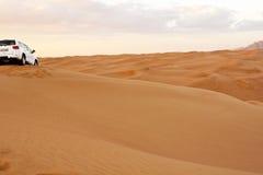 Σαφάρι ερήμων στους μεγάλους αμμόλοφους άμμου Στοκ Φωτογραφίες