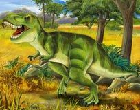 Σαφάρι - τ -τ-rex - χρωματίζοντας σελίδα - απεικόνιση για τα παιδιά Στοκ φωτογραφία με δικαίωμα ελεύθερης χρήσης