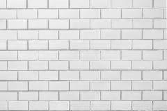 Σαφές άσπρο σχέδιο τουβλότοιχος Στοκ Φωτογραφία