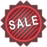 σαφές διάνυσμα ετικεττών πώλησης κορδελλών απεικόνισης κόκκινο Στοκ Εικόνες