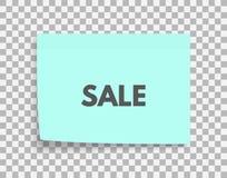 σαφές διάνυσμα ετικεττών πώλησης κορδελλών απεικόνισης κόκκινο Σχέδιο δελτίων προώθησης για τις αγορές Μετα φύλλο εγγράφου σημειώ Στοκ Εικόνες