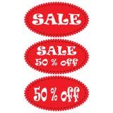 σαφές διάνυσμα ετικεττών πώλησης κορδελλών απεικόνισης κόκκινο Στοκ εικόνες με δικαίωμα ελεύθερης χρήσης