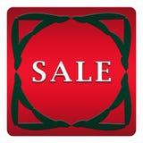 σαφές διάνυσμα ετικεττών πώλησης κορδελλών απεικόνισης κόκκινο Στοκ εικόνα με δικαίωμα ελεύθερης χρήσης