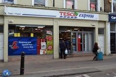 Σαφές κατάστημα Tesco Στοκ εικόνα με δικαίωμα ελεύθερης χρήσης