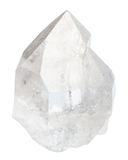 Σαφές κρύσταλλο βράχου που απομονώνεται στο λευκό Στοκ φωτογραφία με δικαίωμα ελεύθερης χρήσης