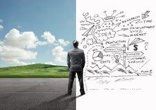Σαφές μυαλό επιχειρηματιών και πολυάσχολο μυαλό Στοκ Φωτογραφία