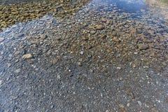 Σαφές νερό με τις πέτρες στο πέρασμα Gemmi στην Ελβετία Στοκ φωτογραφία με δικαίωμα ελεύθερης χρήσης