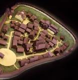 Σαφές ξύλινο πρότυπο της ρωσικής μεσαιωνικής πόλης Στοκ Εικόνα