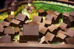 Σαφές ξύλινο πρότυπο της ρωσικής μεσαιωνικής πόλης Στοκ εικόνα με δικαίωμα ελεύθερης χρήσης