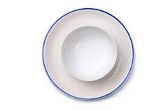 σαφές πιάτο κύπελλων Στοκ Φωτογραφία