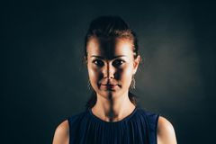 Σαφές σκοτεινό πορτρέτο Στοκ φωτογραφίες με δικαίωμα ελεύθερης χρήσης