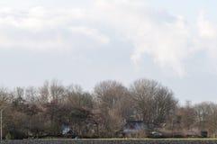 Σαφές τοπίο μπλε ουρανού Στοκ εικόνες με δικαίωμα ελεύθερης χρήσης