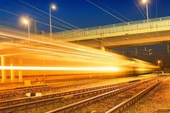 Σαφές τραίνο νύχτας Στοκ Εικόνα