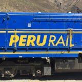 Σαφές τραίνο Machu Picchu ραγών του Περού Στοκ Φωτογραφίες