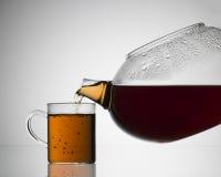 Σαφές teapot με το θερμό τσάι Στοκ εικόνες με δικαίωμα ελεύθερης χρήσης