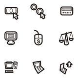 σαφής Ιστός σειράς εικονιδίων Στοκ εικόνες με δικαίωμα ελεύθερης χρήσης