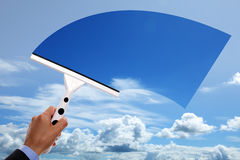 Σαφής μπλε ουρανός Στοκ φωτογραφία με δικαίωμα ελεύθερης χρήσης