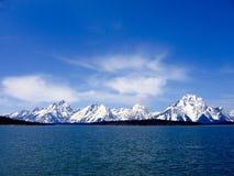 Σαφής μπλε ημέρα στο μεγάλο εθνικό πάρκο Teton, Ουαϊόμινγκ Στοκ Φωτογραφίες