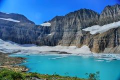 Σαφής μπλε ουρανός παγετώνων Grinnell, εθνικό πάρκο παγετώνων Στοκ Εικόνα