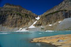 Σαφής μπλε ουρανός παγετώνων Grinnell, εθνικό πάρκο παγετώνων Στοκ Εικόνες