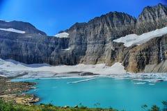 Σαφής μπλε ουρανός παγετώνων Grinnell, εθνικό πάρκο παγετώνων Στοκ Φωτογραφία