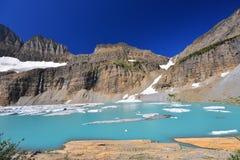Σαφής μπλε ουρανός παγετώνων Grinnell, εθνικό πάρκο παγετώνων Στοκ φωτογραφία με δικαίωμα ελεύθερης χρήσης