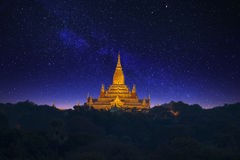 σαφής ναός της Myanmar ananda bagan Πεδιάδα Bagan στοκ εικόνα