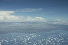 Σαφής ουρανός crouds Στοκ Φωτογραφία