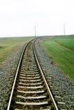 σαφής σιδηρόδρομος πεδί&omega Στοκ φωτογραφία με δικαίωμα ελεύθερης χρήσης