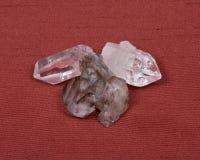 σαφής χαλαζίας κρυστάλλ& Στοκ Εικόνες