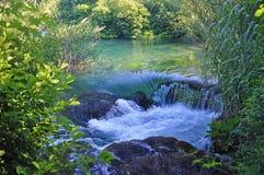 Σαφή νερά στο εθνικό πάρκο Krka στην Κροατία Στοκ Εικόνες