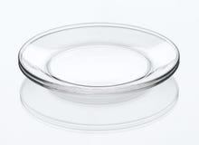 σαφή πιάτα κρυστάλλου Στοκ εικόνα με δικαίωμα ελεύθερης χρήσης
