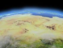 Σαχάρα από το διάστημα ελεύθερη απεικόνιση δικαιώματος