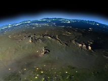 Σαχάρα από το διάστημα διανυσματική απεικόνιση