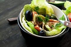 Σαλάτα αβοκάντο με τους σπόρους και τα λαχανικά Στοκ Εικόνες