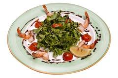 Σαλάτα από τις γαρίδες με τα λαχανικά Στοκ εικόνα με δικαίωμα ελεύθερης χρήσης
