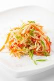 Σαλάτα βιταμινών πέρα από το λευκό Στοκ Εικόνες