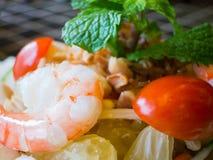 Σαλάτα γαρίδων και pomelo Στοκ Εικόνα