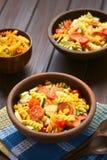 Σαλάτα ζυμαρικών με τα λαχανικά και το λουκάνικο Στοκ εικόνες με δικαίωμα ελεύθερης χρήσης